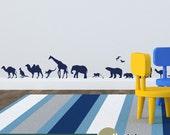 Safari Wall Decal -  Set of 34 Safari Animals - Vinyl Safari Wall Decor for Kids - WD0221