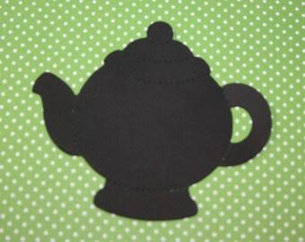 10 Teapot Confetti / Scrapbooking / Embellishment / Paper Goods / Card Making / Die Cut / Cutout / Tea Party