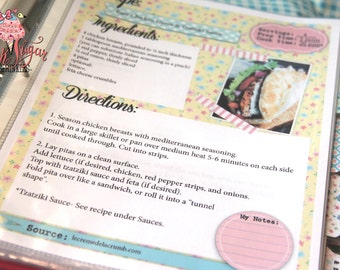 Kitchy Kitchen Cookbook! Internet Pages! DIY Print Yourself Instant Download Recipe Pages-So Organized!