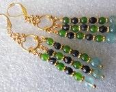 Sea Sensation  handmade chandelier earrings  E508