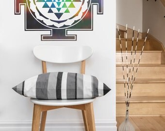 Sri Yantra Square | mandala vinyl Wall DECAL | seed Sacred geometry, sticker art, home decor, rainbow
