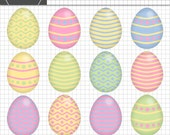 Easter Egg Clipart, Easter Clipart, Digital Clipart, Digital Scrapbook, Easter Scrapbooking Embellishment, Instant Download, Commercial Use