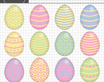 Easter Egg Clipart, Easter Clipart, Digital Clipart, Digital Scrapbook, Easter Scrapbooking Embellishment, Instant Download, Co