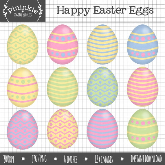 Pastel Easter Eggs Clipart