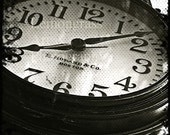 Antique Clock, Street Clock, Black & White, Photography Print, 8x10 + More Sizes, Time, Tick Tock, Old Timer, Wrought Iron, Monochrome Decor