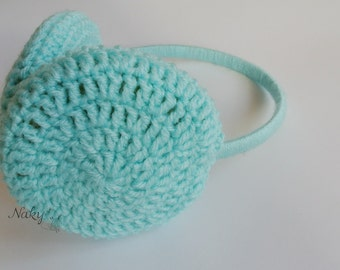 Mint Earmuffs Crochet earmuffs Handmade Earmuff