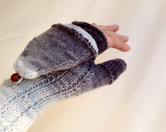 Knit Gloves Convertible Mittens Women Gloves Winter Accessories Arm Warmers Fingerless Gloves / Valentines Day Gifts For Her ,senoaccessory