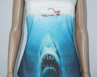 Beware of Shark! Tank Top - Made to Order