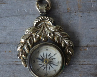 Antique Compass Watch Fob