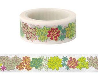 Succulent Plant Washi Tape (6M)