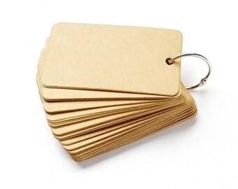 50 Kraft Card / Gift Tags