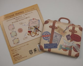 Luggage Antique Memo Paper (double side, non-sticky)