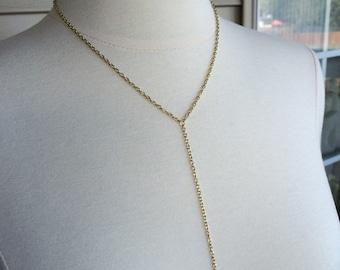 Simple Lariat Necklace