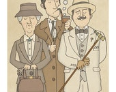 The Detectives - Illustration Print