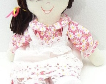 fabric doll toy children toddler, cloth doll, hand made rag dolls, rag doll handmade, ragdoll, ooak NF178