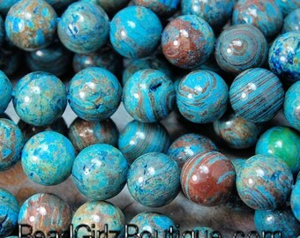 8mm Imperial Turquoise Jasper  -15 inch strand