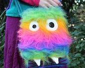 Super Furry Rainbow Monster Bag