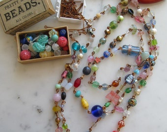 "End Of The Day Vintage Glass Bead Chain ""Kit"""