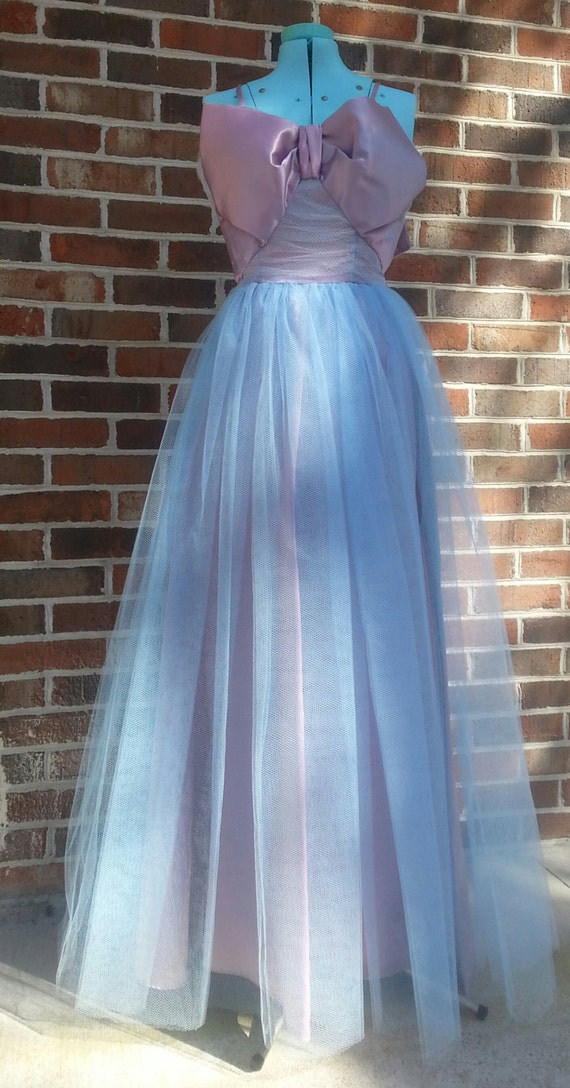 Vintage 1980s Does 1950s Prom Dress Formal Evening Gown