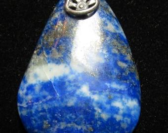 Lapis Lazuli pendant with silver bail 58ct