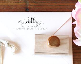 Custom Return Address Stamp -- Handwritten Calligraphy Address Stamp - Personalized Stamp - Wedding Stamp - Elle Style