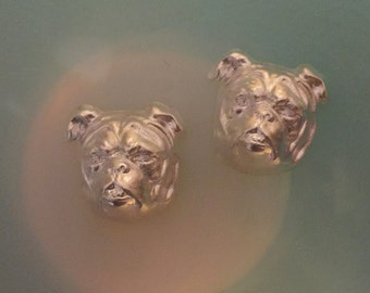 Silver French Bull Dog MADE TO ORDER (2 pc)
