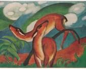 Vintage German Postcard 9439 (Franz Marc - The Red Deers) - 1961