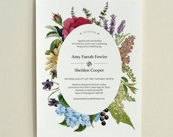 The Antique Garden / DIY Wedding Invitation / Printable PDF Template / Instant Download