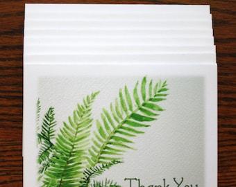 Set of 8 Fern Thank You Cards - (SET 8F)