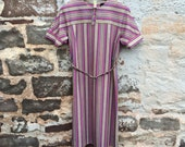 SALE! WAS 15.00 - Gordon Wyatt of Leicester 60's style bright striped shirt dress with belt