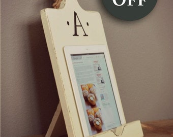 Cookbook Stand - iPad Accessory - iPad holder - Kindle Tablet Stand - Kitchen Holder - Kitchen Stand - Mothers Day - Gift - Housewarming