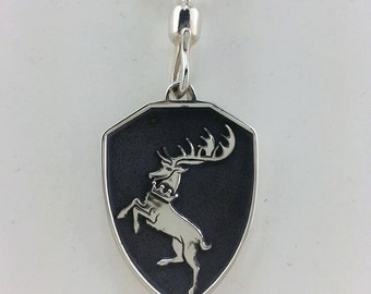 "Hand Engraved ""Contest of Chairs"" House Crest Pendants"