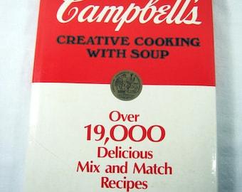 Vintage CAMPBELLS COOKBOOK Cooking w/ SOUP Recipes Circa 1985 Casserole Recipe