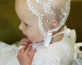 The Emily Bonnet  in Chantilly Lace for Blessing and Baptism
