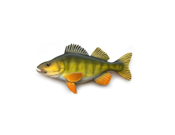 Yellow Perch wood carving, fishing decor, fishermans gift, Christmas gift, sportsmans gift, fishing collectable, fish decor, wood fish decor