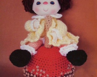 "Instant Download PDF Vintage Eighties 14"" Taffy Apple Doll Crochet Pattern"