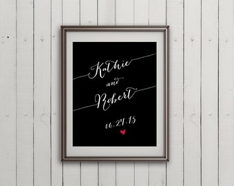Personalized Wedding Gift, Unique Wedding Gift, Newlywed Gift, Anniversary Gift