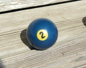 Vintage Billiard Ball - Number 2 Pool Table Ball - Great for Birthdays and Anniversaries