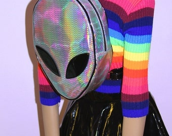 AS IS Discounted Rainbow Hologram Alien Backpack