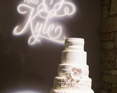 Wedding Logo and Gobo, Reception Lighting -- DIGITAL FILE -- Pomp