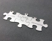 Friendship Keychains, Best Friends Keychains, Set of 3 Puzzle Key Chains, We will always be connected, Best Friends Gift