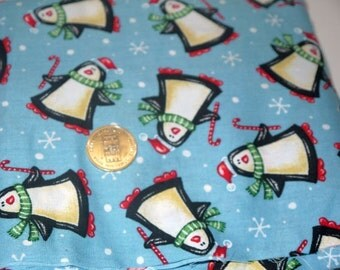 Penguin quilt fabric / novelty fat quarter lot / sewing quilting / destash yardage 3 yards / crafts crafting supplies  / Christmas Holiday