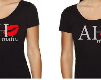 BLiNg AH Mafia or AH Mamas Custom Glitter Shirt