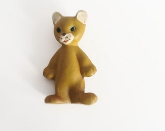 Soviet Rubber Toy Cat, his name is Myrka.