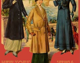 New York FASHION STYLES MAGAZINE 1915 Spring and Summer Collection 100s Of Printable Designs Read on Your iPad or Tablet