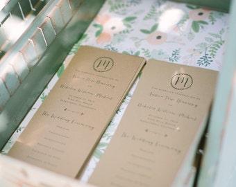 Wedding Program, Printable Wedding Program, Rustic Wedding, DIY Wedding Program, Custom Program, Printable Program, Rustic, Calligraphy