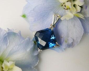Blue Fluorite, Blue Fluorite Pendant, Natural Blue Fluorite