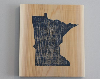 minnesota (blue on cedar)