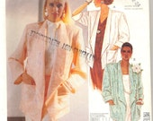 Vintage 1980's Womens Jacket Pattern, McCalls 2986 Sewing Pattern, Size 20-22