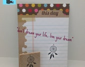 Dream Catcher 1 inch tall Stamp MED O015